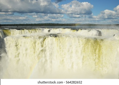 The throat of devil (garganta del diablo) is the strongest fall in Iguazu Falls, Argentina.