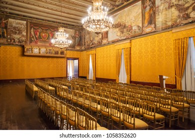 Throne Room in the Grand Master's Palace. Located in Valletta, Malta. 13 March 2018