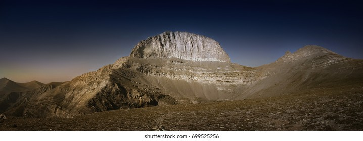 Throne of Zeus, the mythical summit of Mount Olympus.