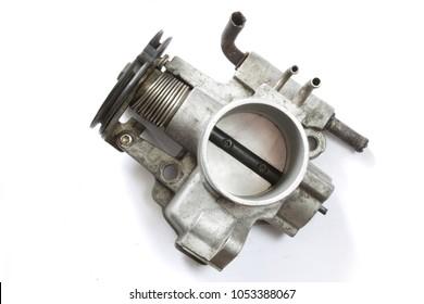throttle valve on white background
