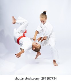 Throw Judo makes sportswoman with white belt