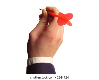 Throwing a darts arrow - business oriented