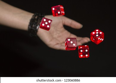 throwing red dices