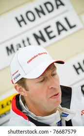 THRUXTON, UNITED KINGDOM - MAY 1: Honda Racing driver Matt Neal in the pits during the British Touring Car Championship meeting on May 1, 2011 in Thruxton, UK.