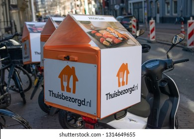 Thuisbezorgd.nl Company Scooter At Amsterdam The Netherlands 2019