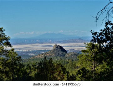 Thumb Butte is a distinctive landmark just west of Prescott, Arizona, and also a popular hiking destination. A picnic area at the base of the butte has several trailheads for exploring the area.