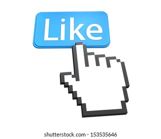 thumb up like good social media share 3d symbol icon button