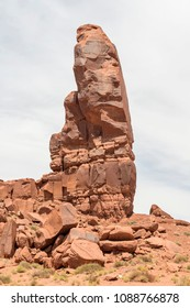 The Thumb in Monument Valley. Monument Valley is a region of the Colorado Plateau characterized by a cluster of vast sandstone buttes.