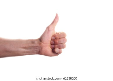 thumbs up or down concept isolated on white background