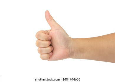 Thumbs up gestures isolated on white background