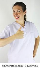 Thumbs up nurse