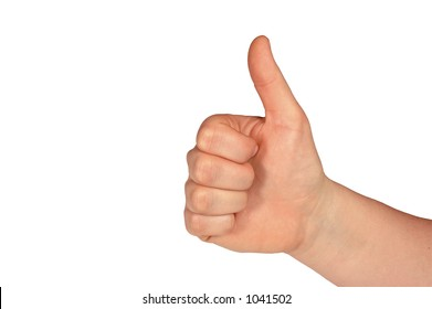 Thumbs Up  (with clipping path)