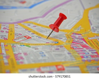 Thumbtack in a Map
