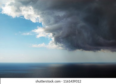 Thunder cloud over the sea