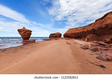 Thunder Cove rocks at Prince Edward Island Canada