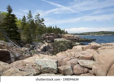 Thunder Hole in Acadia National Park at Maine