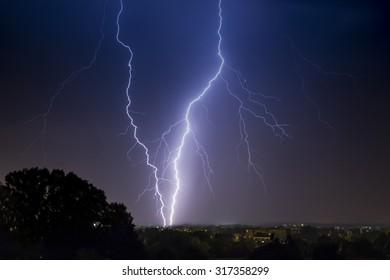 thunder lightning and storm