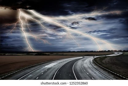 thunder line in the road