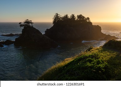 Thunder Rock Cove at Samuel H. Boardman State Scenic Corridor, Oregon, USA