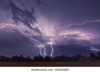 Thunder storm Buxton NSW, Australia