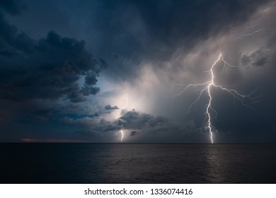 Thunder storm at Dundee Beach, Northern Territory.