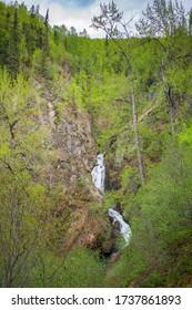 Thunderbird Falls as visible from the Thunderbird Falls Trail.