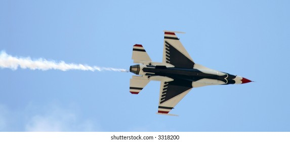 The Thunder-Birds performed at Air Show at McGuire AFB, New Jersey