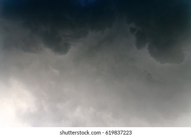 Thunderclouds, dramatic storm cloud. Rain cloud abstract background.