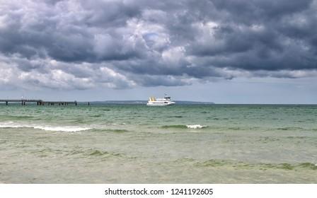 Thunderclouds on Ruegen at baltic Sea,Mecklenburg western Pomerania,Germany