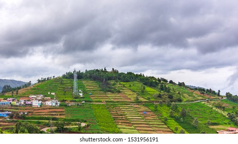 Thunderhead clouds forming in scenic ooty