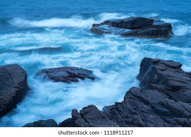 Thunderhole waves at Acadia National Park