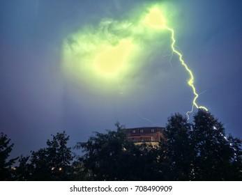 thunderstorm above Bucharest
