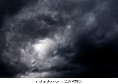 Thunderstorm and Dark clouds.