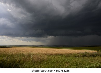 Thunderstorm in the field