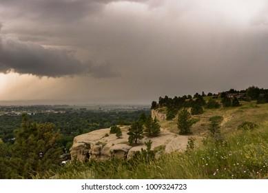 Thunderstorm over Billings, MT Valley