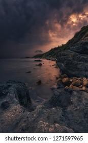 Thunderstorm over Elba