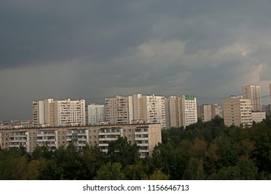 thunder-storm over Moscow