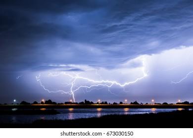 Thunderstorm over the Netherlands