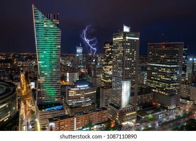 Thunderstorm over Warsaw