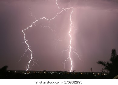Thunderstorms lightning weather storm nature