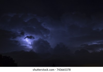 Thunderstorms in the night in Rome