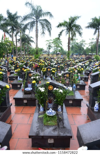 Thuong Tin, Ha Noi, Viet Nam - 27/7/2018. Monument to War Heroes and Martyrs in Viet Nam's War Invalids and Martyrs Day.