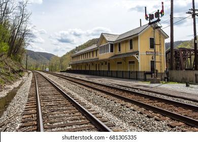 Thurmond Train Depot in Thurmond, West Virginia