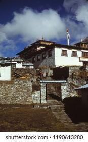THYANGBOCHE , NEPAL - NOV 12, 2005 - Buddhist monastery at Thyangboche Nepal