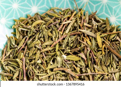 thyme dried herbs detail, healthy living naturopathy