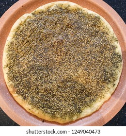 Thyme and sesame Palestinian pastry