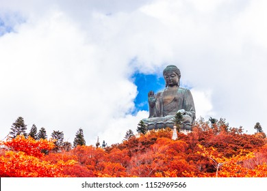 Tian Tan Buddha, Big Budda, The enormous Tian Tan Buddha at Po Lin Monastery in Hong Kong. The world's tallest outdoor seated bronze Buddha located in Ngong ping 360.