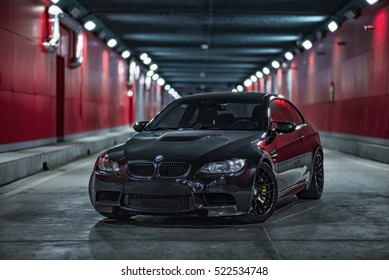 Tianjin, China   Feb 28, 2016: BMW M3 (E92) Coupe,
