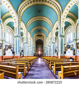 Tianjin,China-May 20,2015:church interior and decoration in tianjin.It was built in qing dynasty and become famous landmark of tianjin.