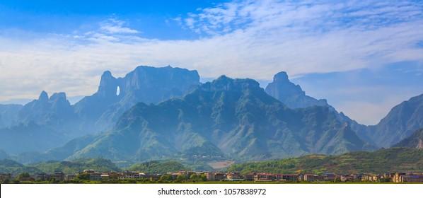 Tianmen Mountain Landmark Nature Travel Place Of Zhangjiajie, Changsha, China
